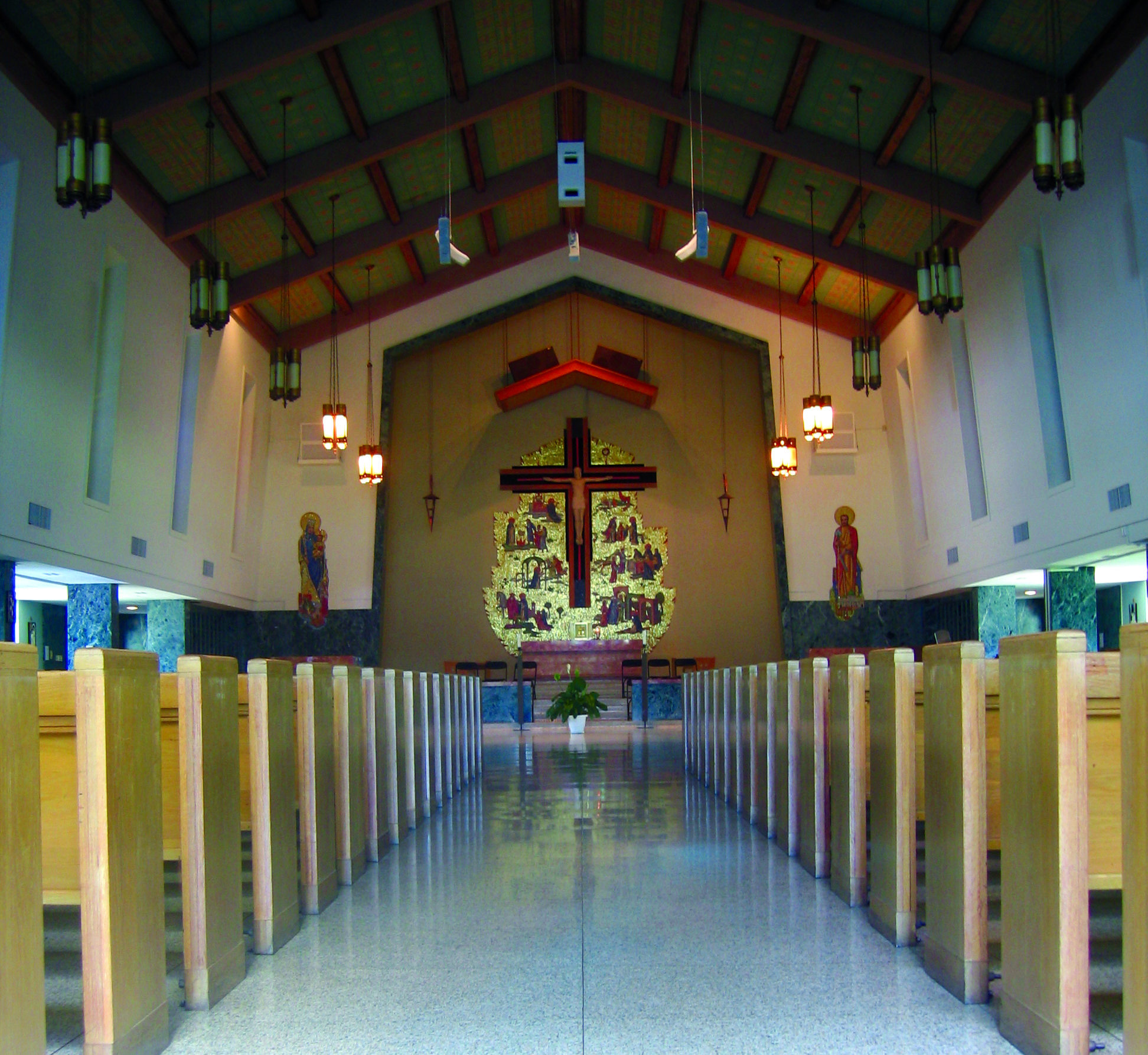 St. Dominic Chapel at Siena Heights University in Adrian, Michigan ...