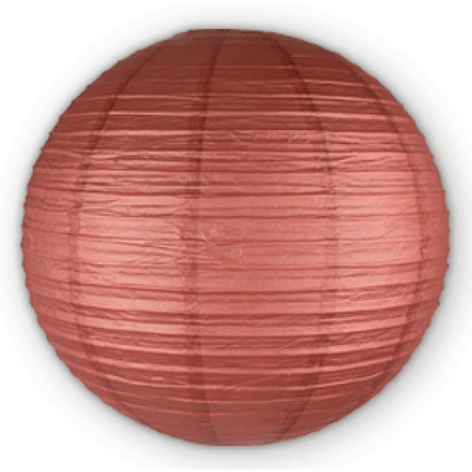 8 Round Paper Lanterns - Cafe Brown [PL8CB Buy Brown Round Lanterns ...