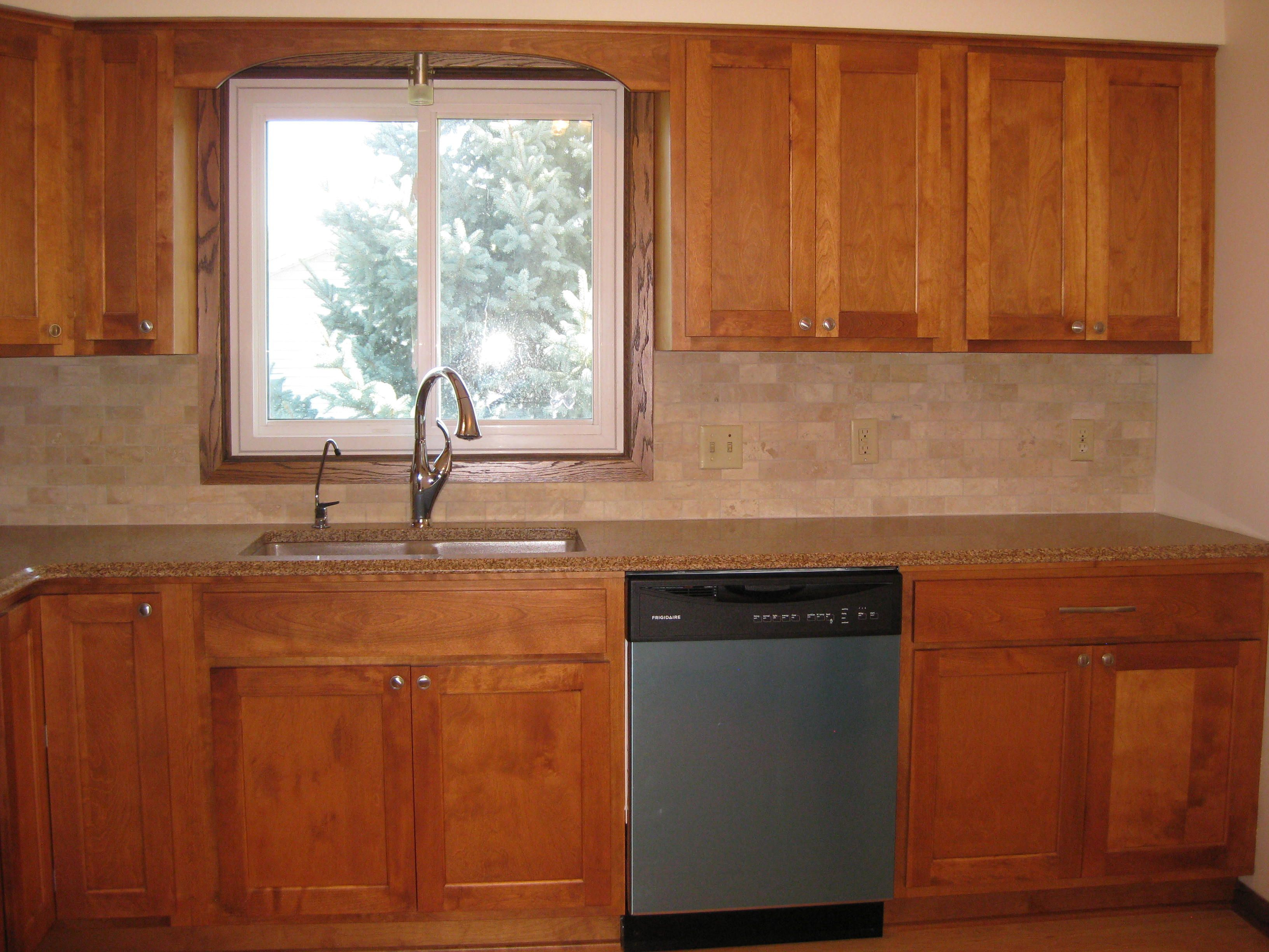 Woodbury Mn Kitchen Remodel Custom Maple Cabinets And Travertine Subway Tile Back Splash