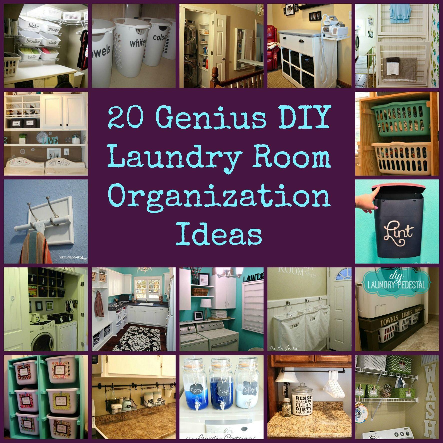 20 Genius DIY Laundry Room Organization Ideas Laundry
