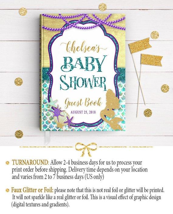 3686bf79247 Mermaid Baby Shower Guestbook