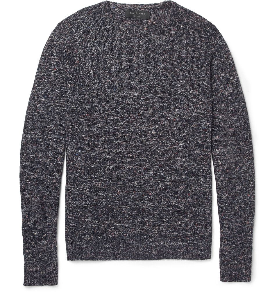Rag & bone Braddock Flecked Linen and Cotton-Blend Sweater | MR ...
