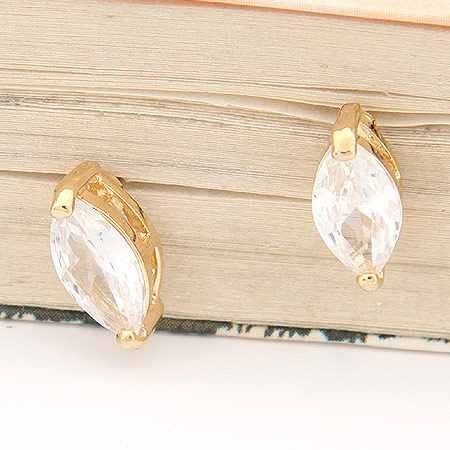 Crystal Stone Stud Earrings via LAU ACCESSOIRES. Click on the image to see more!