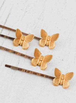 Bug Hair Pins Butterfly Hair Pins Butterfly Bobby Pin Gifts for Bridesmaid Pink Butterfly Pin Gift for Bride Butterfly Pins