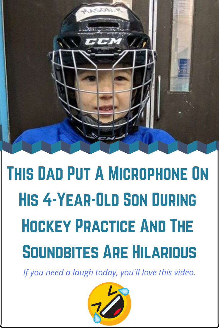 This Dad Put A Microphone On His 4 Year Old Son During Hockey Practice And The Soundbites Are Hilarious Jokes For Kids Hilarious Family Humor