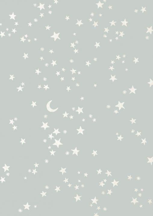 bluesky, pattern, print, design, stars, moon, winter