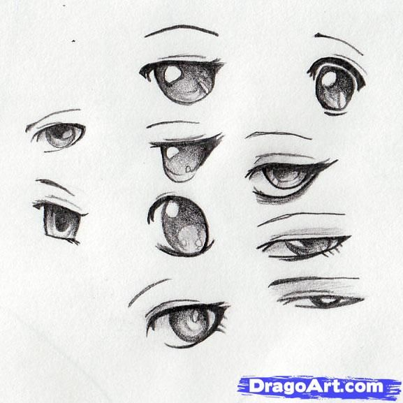 Easy to draw sexiest anime drawing anime eyes step 9