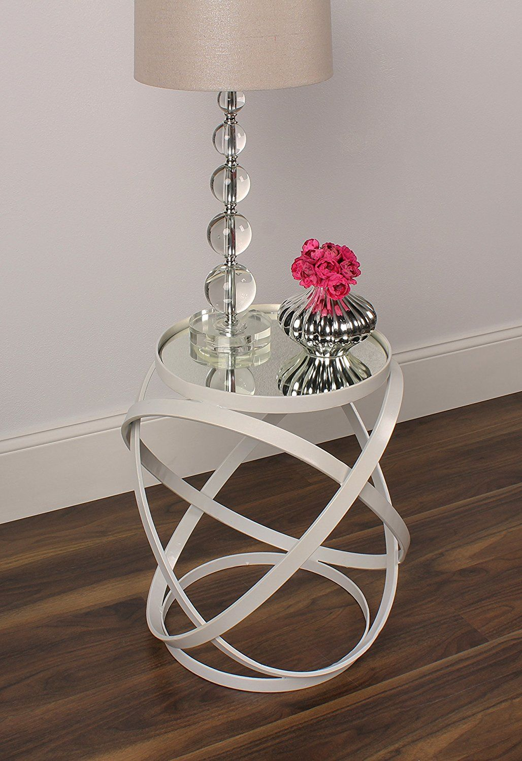 round mirrored end table | Mirrored end table, Diy end ...
