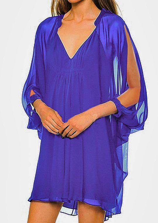 compra original fábrica buena textura VESTIDO-FIESTA GASA TUNICA | vestidos en 2019 | Vestidos de ...