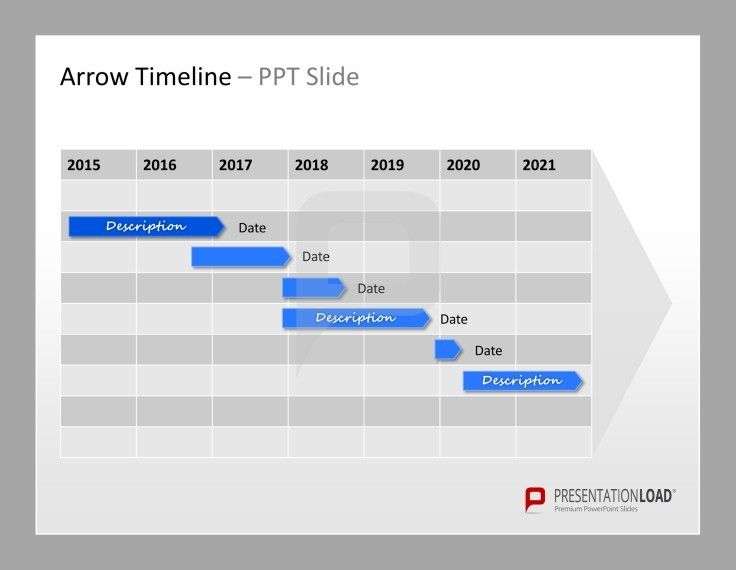 Timeline PowerPoint Template #presentationload http\/\/www - project timetable