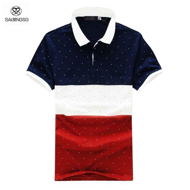 febd0170e22b4 Classic slim Fit polos camisas hombres Camisa a rayas Polo Marca 5XL Mens  camisas de Polo del verano estilo de las marcas de diseñador más tamaño