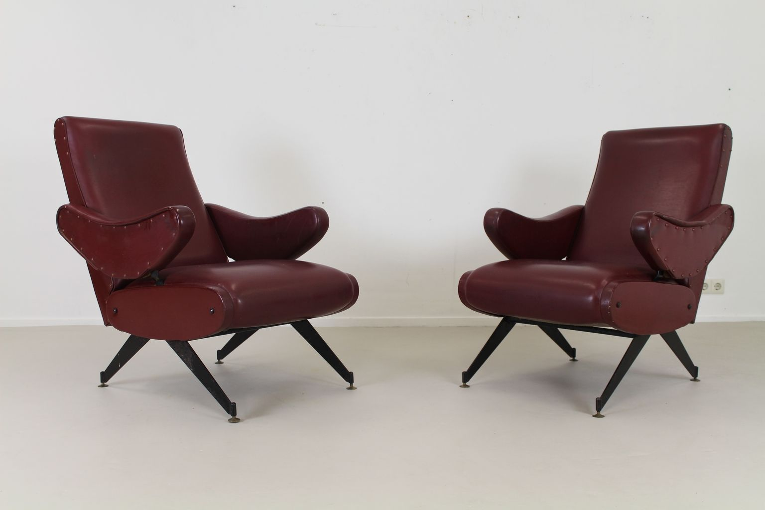 Italian Skai Lounge Chair 1965 1