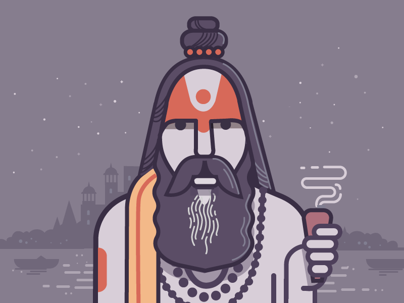 Aghori Sadhu | Art in 2019 | Graphic design illustration
