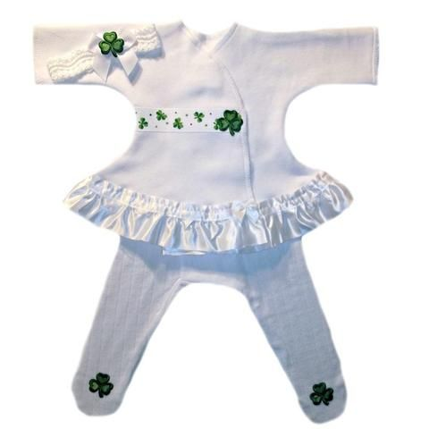 8c5a05dfc Baby Girls' Luck of the Irish Sassy Dress Sized For Preemie and Newborn  Babies