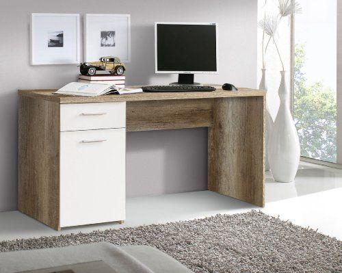 Eckschreibtisch weiß matt  Schreibtisch Eiche Antik/ weiss matt Woody 77-00355 | Schreibtisch ...