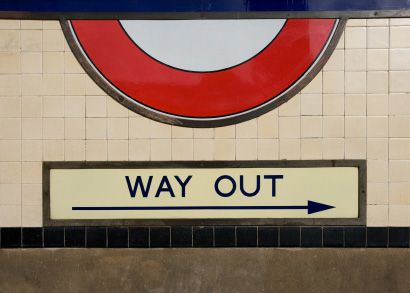 Way out sign from a London Tube station