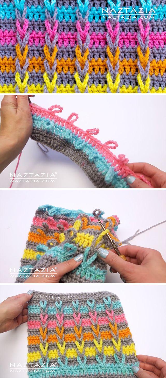 Learn The Crochet Jacob's Ladder Stitch #crochetstitchestutorial