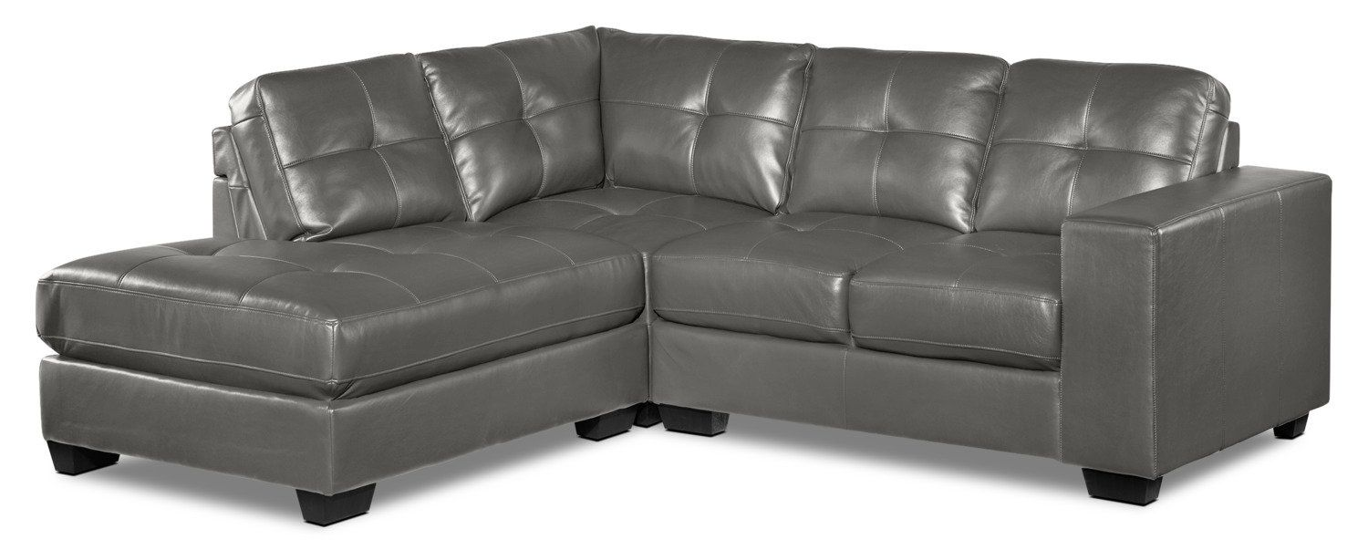 Astonishing Meldrid 3 Piece Sectional With Left Facing Chaise Dark Andrewgaddart Wooden Chair Designs For Living Room Andrewgaddartcom