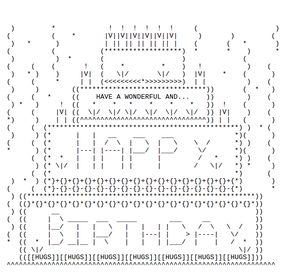 Happy Birthday Ascii Text Art Ggs Pinterest