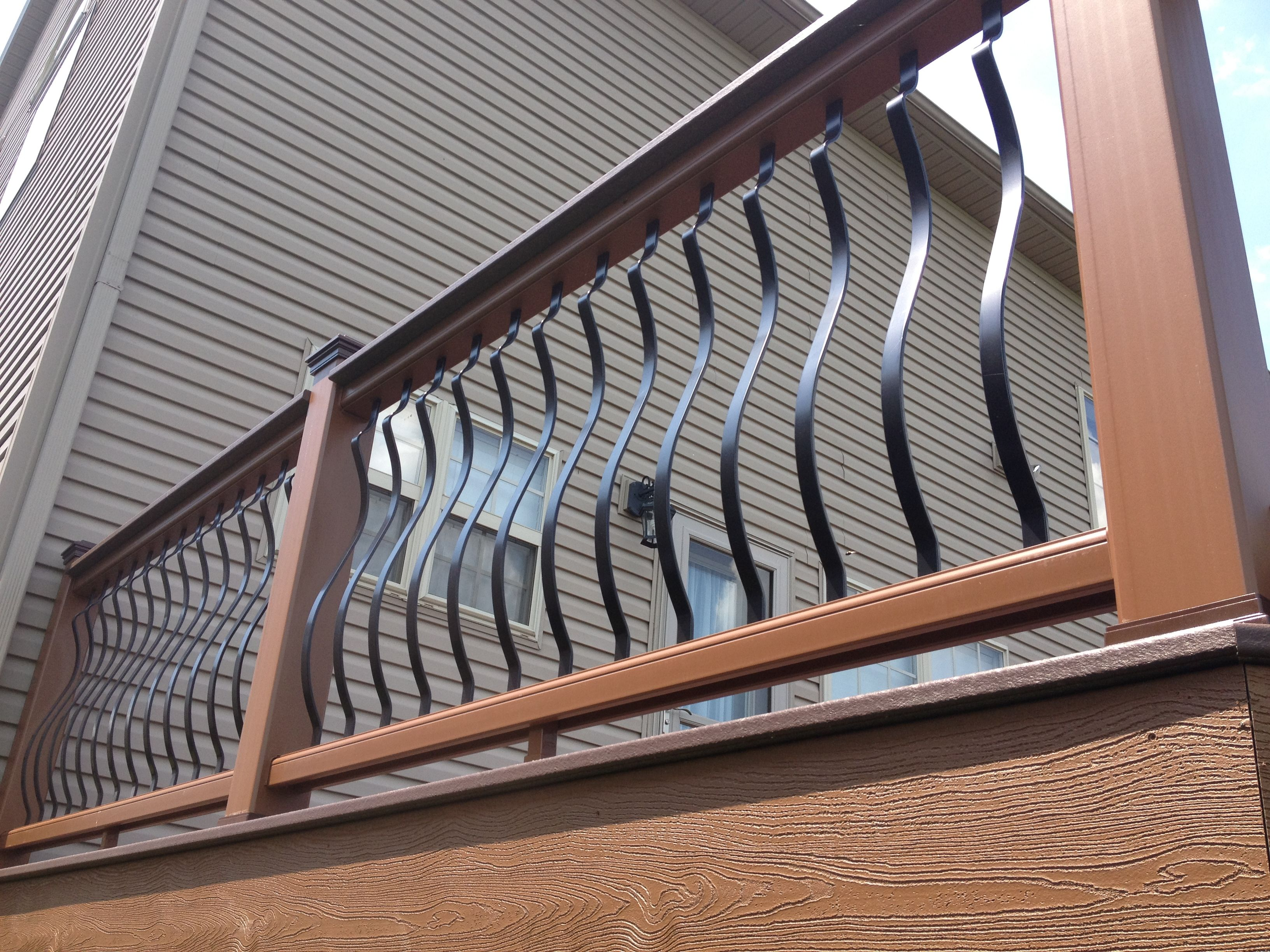 Architectural aluminum spindles with a trex transcends cocktail architectural aluminum spindles with a trex transcends cocktail railing baanklon Images