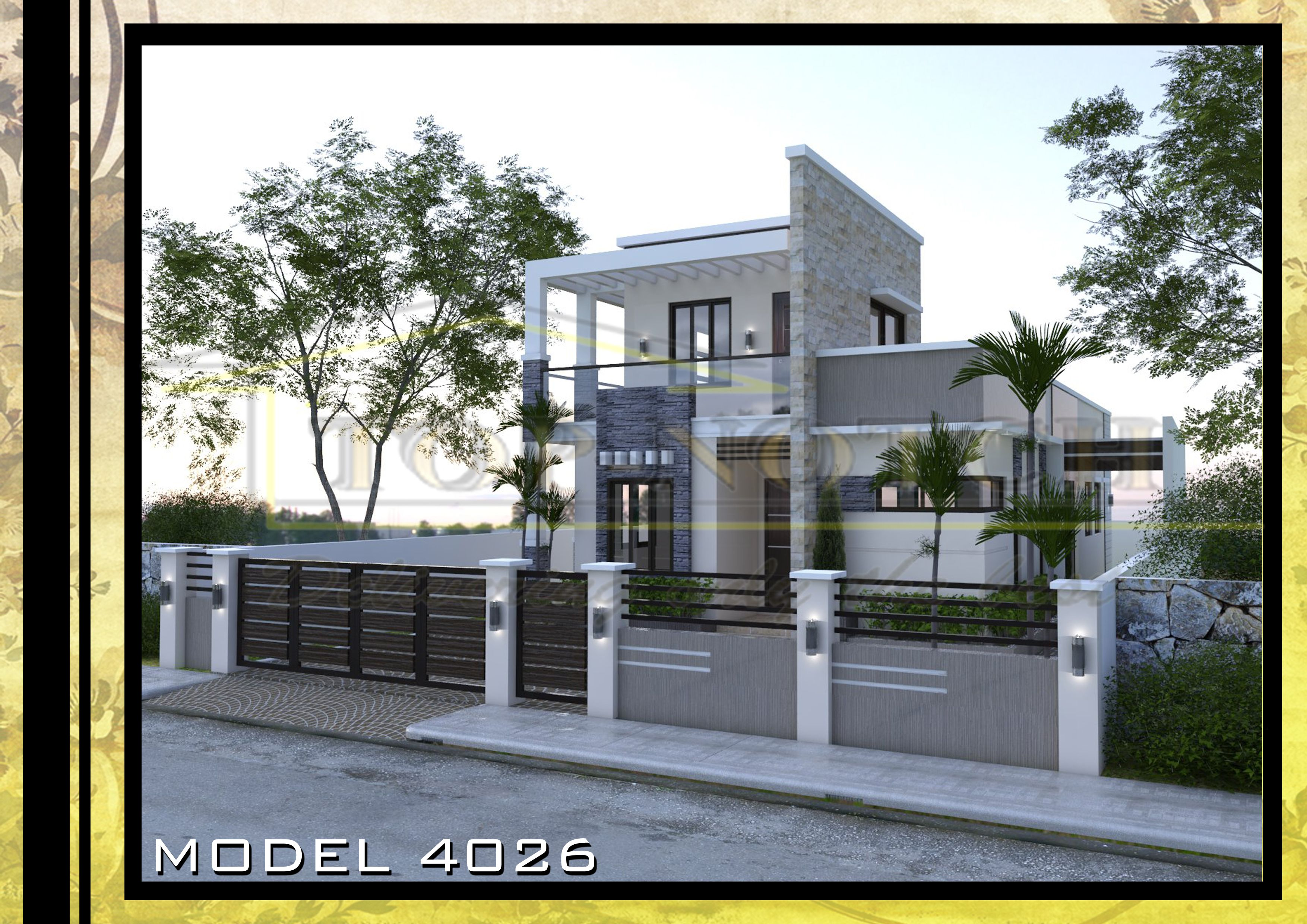House Plans Philippines Sample House Design Model 4026 In 2020 Philippines House Design House Design Modern Architecture House