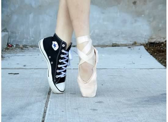 98405733f11b Pointe shoes and Converse