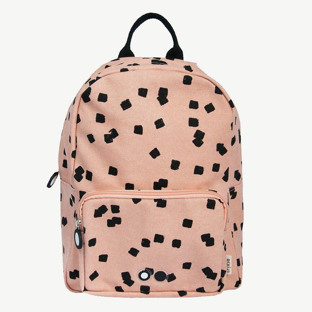 Squares Rucksack Mit Viereck Print In Altrosa Rucksack Fashion Backpack Unisex Backpack