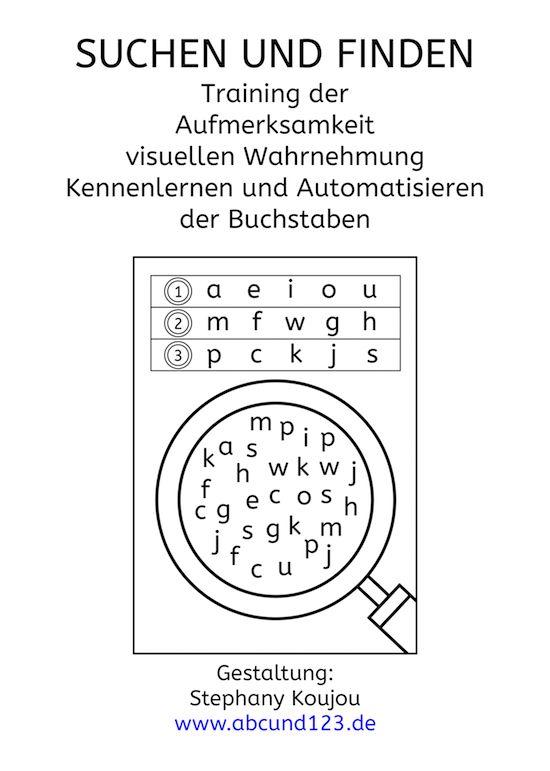 Fünf Übungsblätter, um die Buchstaben kennenzulernen oder zu ...