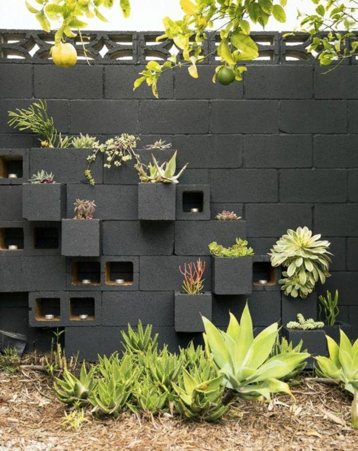 deco mur exterieur habiller un mur ext rieur en pierre en. Black Bedroom Furniture Sets. Home Design Ideas