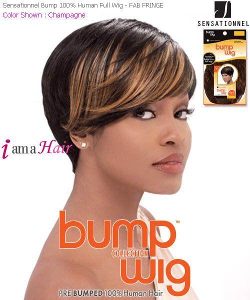 Fab Fringe Sensationnel Bump Wig Bump Hairstyles Short Curly Wigs Human Hair