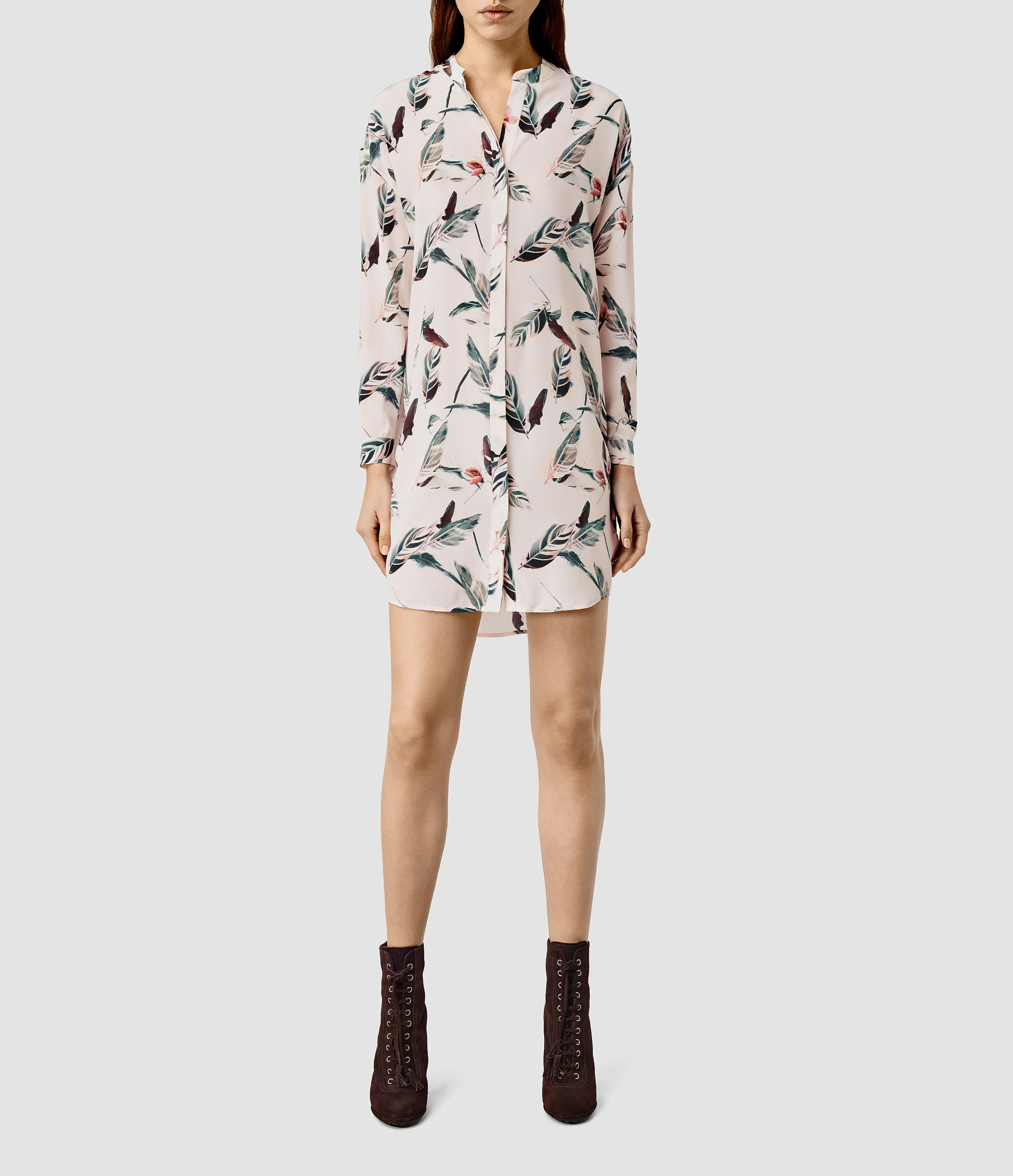 79a999be6f ALLSAINTS UK  Womens Avalon Canna Dress (Chalk White)