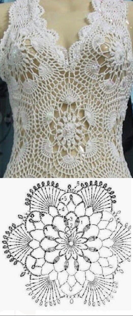 Pin de Adriana Demichelis en crochet | Pinterest | Blusas, Ganchillo ...