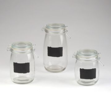 Chalkboard Hermetic Canisters, Set of 3