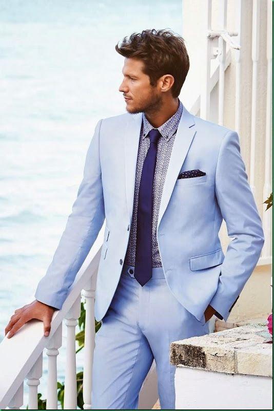 Next | Light Blue Suit | Men\'s Fashion | Menswear | Men\'s Outfit for ...