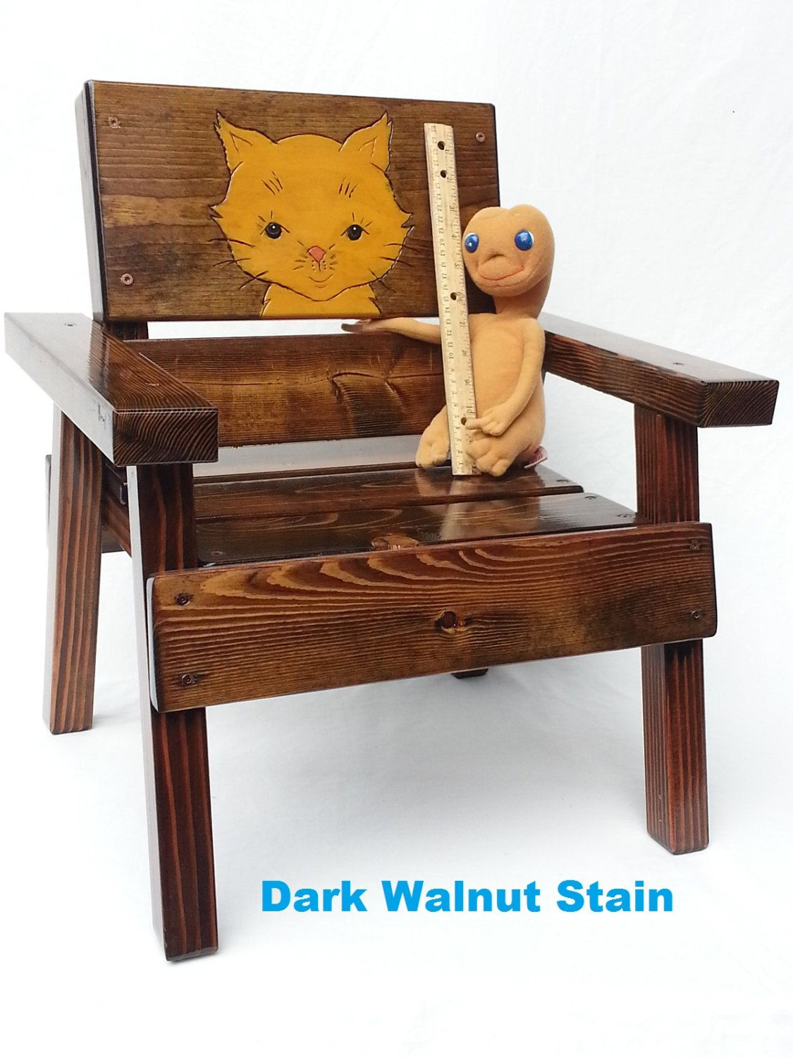 Childrens Outdoor Patio Furniture Wood Kids Chair Folk Art Engraved Cat Panel Baby  sc 1 st  Pinterest : toddler patio chair - Cheerinfomania.Com