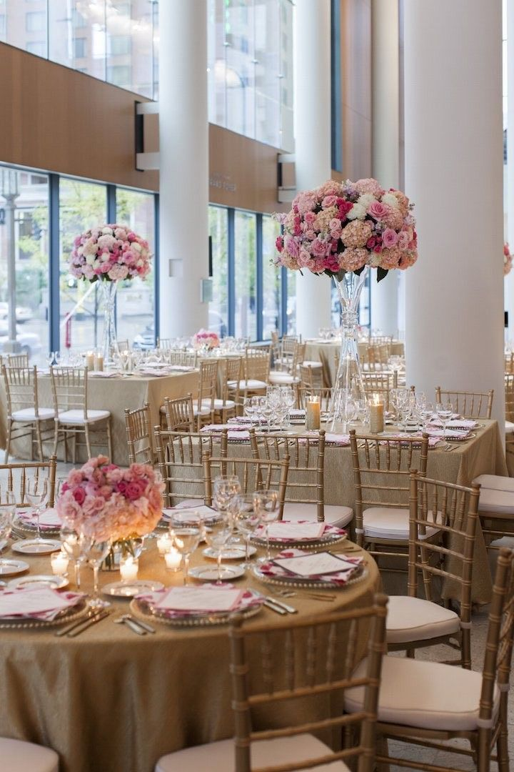 Bride adorns minneapolis wedding with custom prints pinterest gorgeous pink wedding reception idea photo cadence and eli junglespirit Images