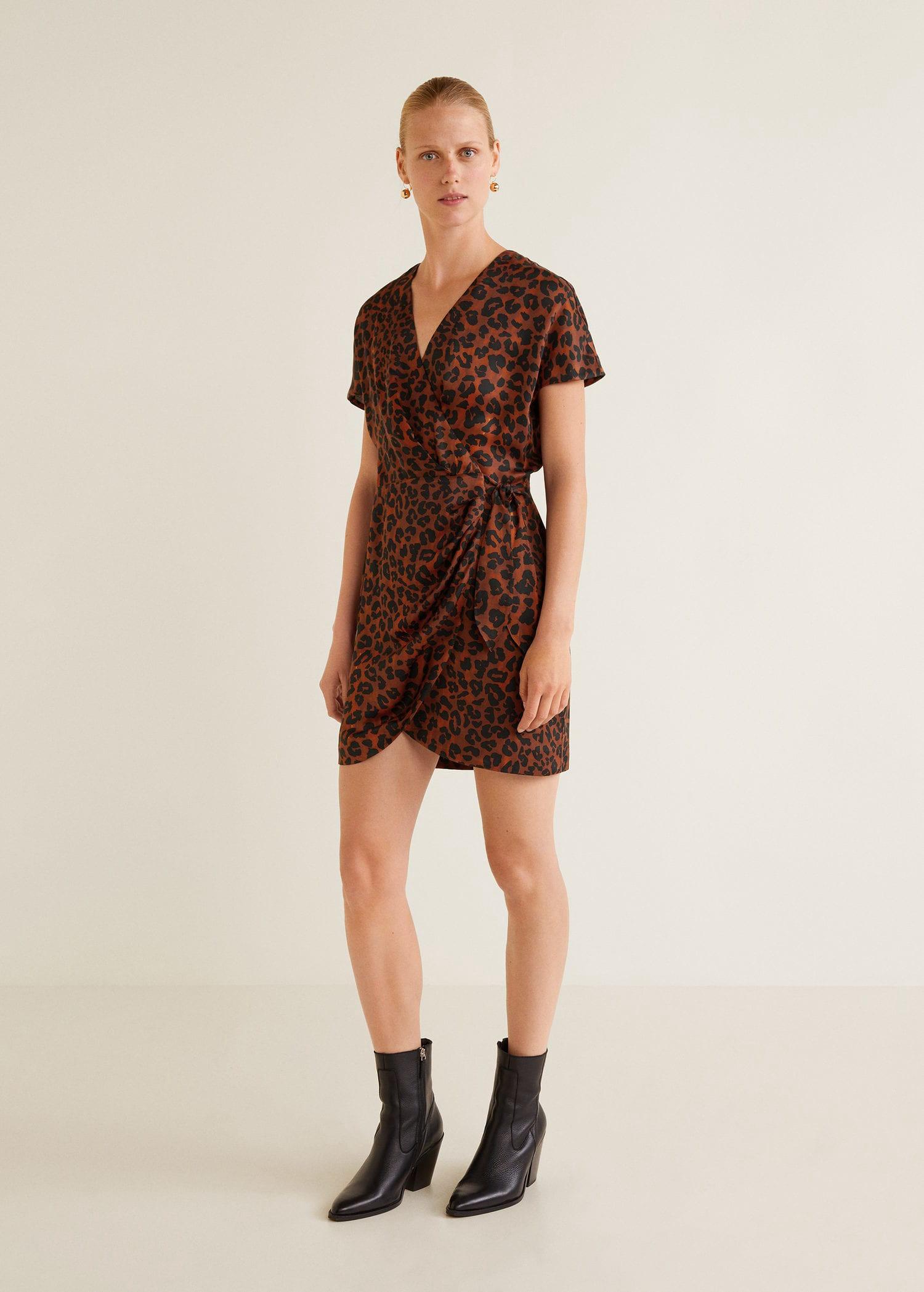 c851c0fe9d8 Mango Leopard Print Dress - 2 in 2019