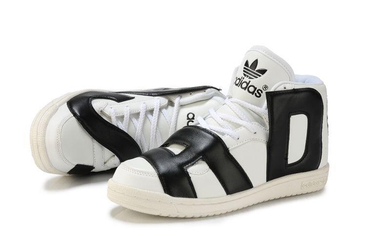 Mens Adidas Jeremy Scott Letters Shoes Black/White