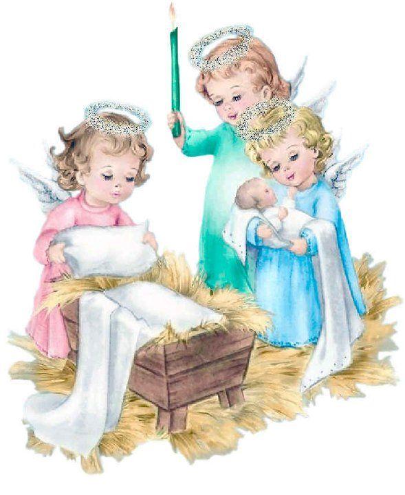 Gifs Y Fondos Pazenlatormenta Gifs Del Nino Jesus En El Pesebre Angeles De Navidad Belenes Imagenes De Angeles
