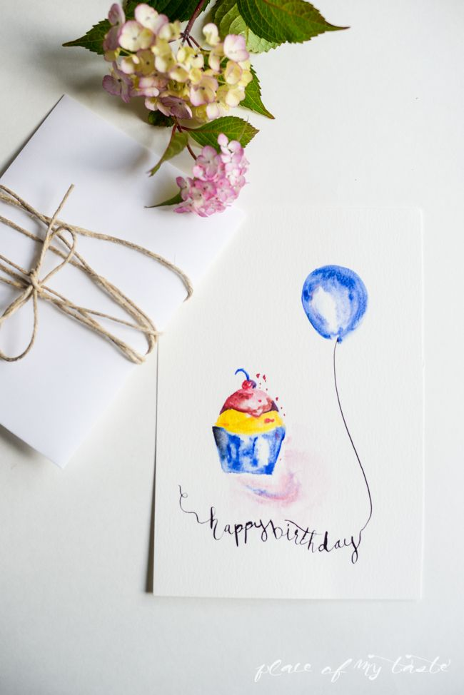 FREE WATERCOLOR BIRTHDAY PRINTABLES