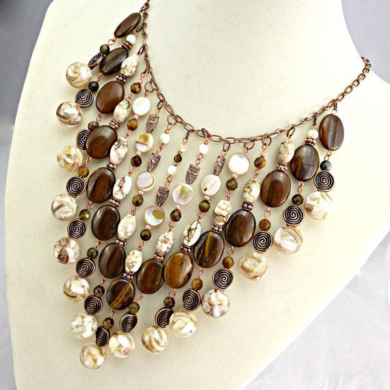 Hey, I found this really awesome Etsy listing at https://www.etsy.com/listing/195120550/statement-necklace-bib-necklace-boho
