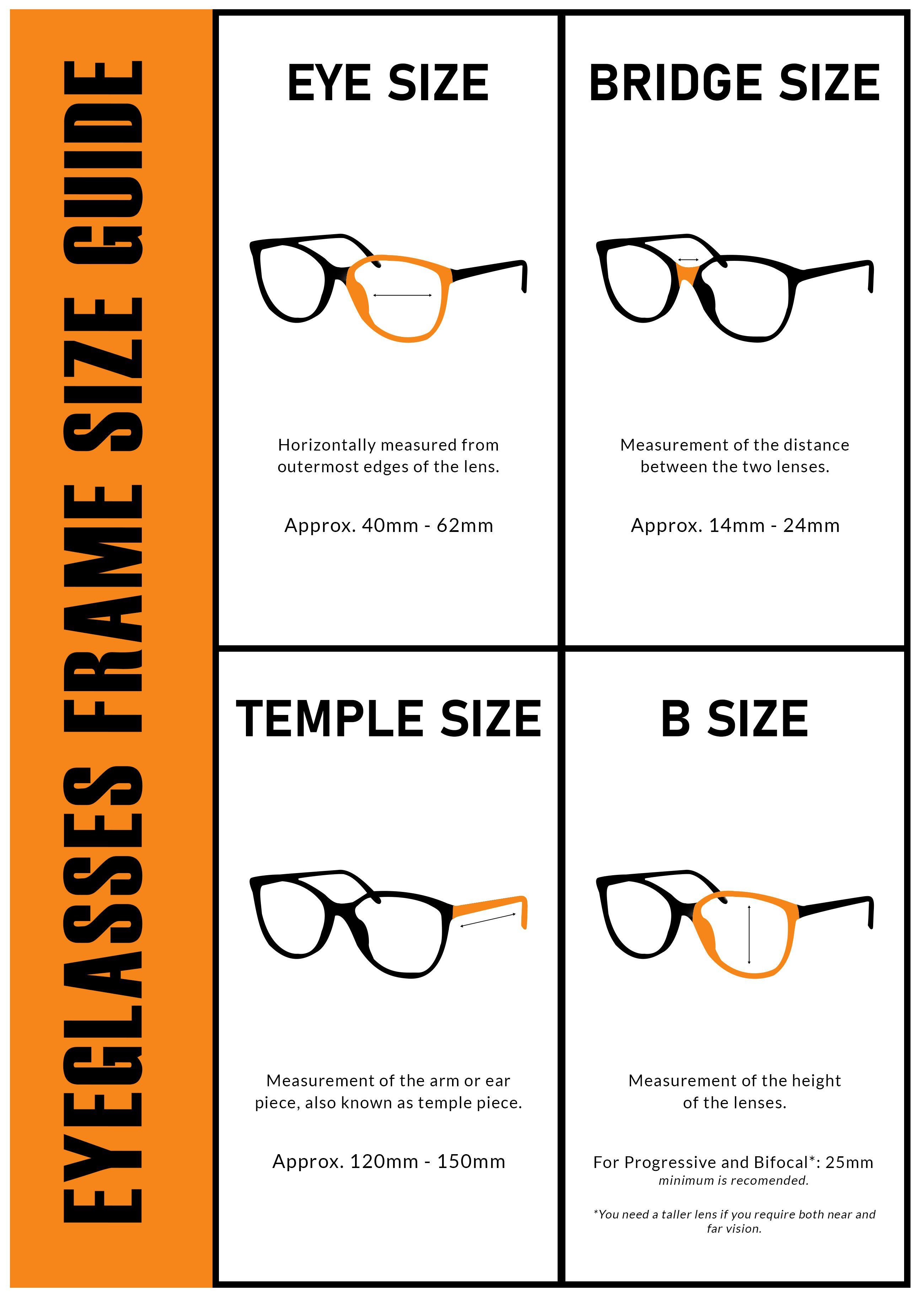 Eyeglasses frame size guide eyeglasses eyeglasses