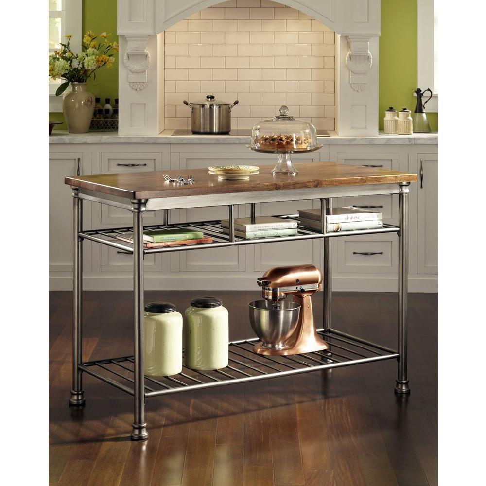 The Orleans Vintage Carmel Kitchen Utility Table | Pinterest