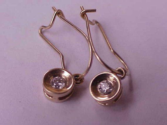 Antique Unique Art Deco  .25ct Diamond 14k YG by Estatejewelrys, $399.00