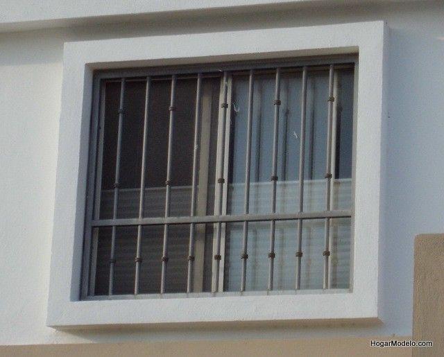Imagen de dise o de verjas de fierro de ventana for Ventanas modernas en argentina