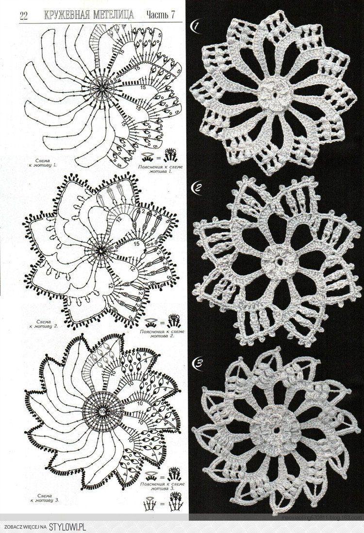 Crochet Snowflakes | irish crochet | Pinterest | Ganchillo, Tejido y ...