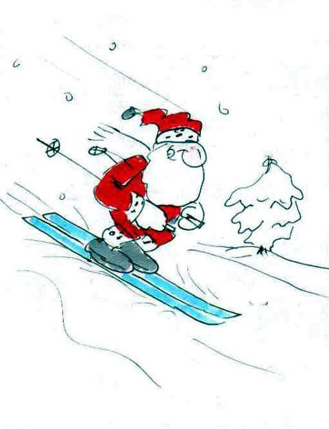 weihnachtsmann ski im skiurlaub vor weihnachten noch. Black Bedroom Furniture Sets. Home Design Ideas