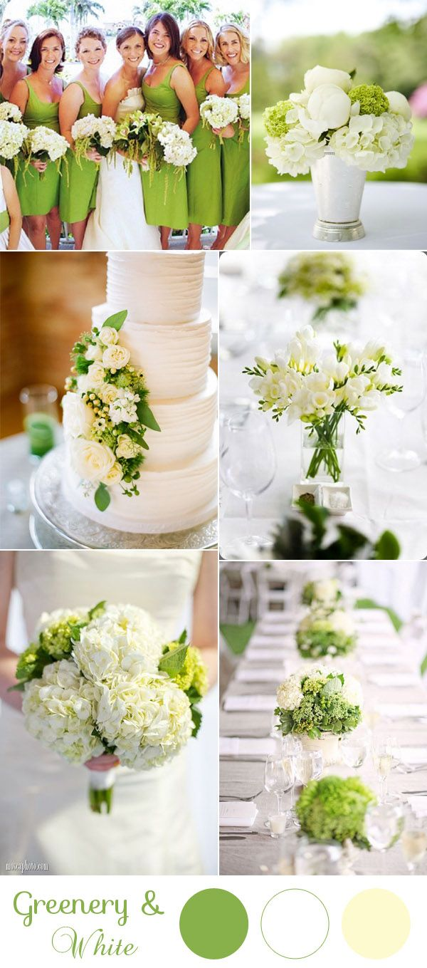 10 Greenery Wedding Colors Inspired By Pantone Color of 2017 ...