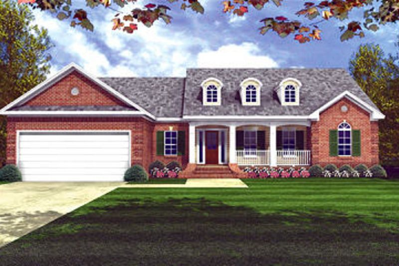 Southern Style House Plan - 3 Beds 2.00 Baths 1865 Sq/Ft Plan #21-209 Exterior - Front Elevation - Houseplans.com