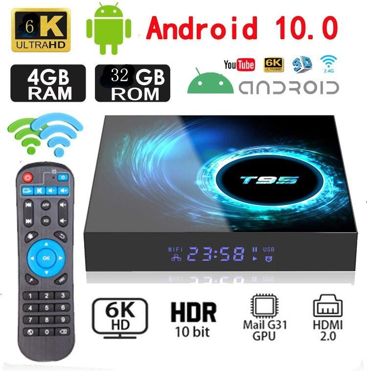 Android 10 0 Tv Box T95 Quad Core 4 32gb In 2020 Upgrade Android Android Tv Box Android Tv